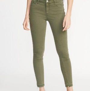 Old Navy Army Green Rockstar Super Skinny Jeans